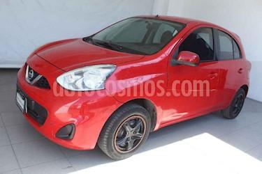 Nissan March 5p Sense L4/1.6 Man usado (2014) color Rojo precio $119,000
