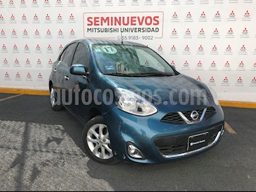 Nissan March Advance NAVI Aut usado (2017) color Turquesa precio $165,000