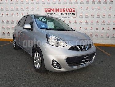 Nissan March Advance NAVI Aut usado (2015) color Plata precio $140,000