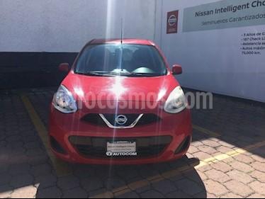 Foto venta Auto Seminuevo Nissan March SENSE MT (2014) color Rojo precio $130,000