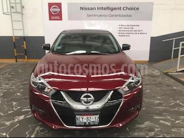 Nissan Maxima 4P EXCLUSIVE CVT PIEL QCP F. LED GPS RA-18 usado (2017) color Rojo precio $485,000