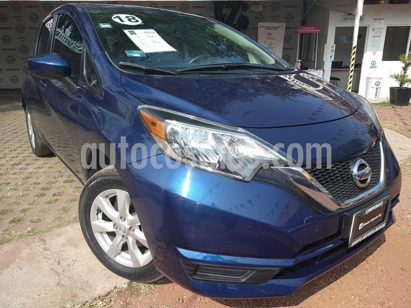 Nissan Note Sense Aut usado (2018) color Azul precio $180,000