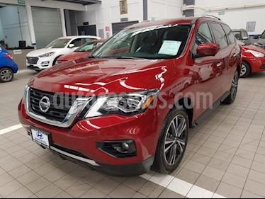 Foto venta Auto usado Nissan Pathfinder 5p Exclusive V6/3.5 Aut (2018) color Rojo precio $595,000