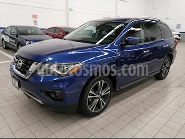 Foto Nissan Pathfinder 5p Exclusive V6/3.5 Aut usado (2018) color Azul precio $585,000