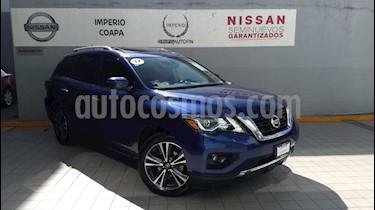 Foto venta Auto Seminuevo Nissan Pathfinder Exclusive (2017) color Azul precio $569,000