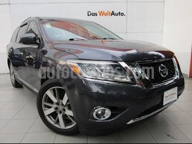 Foto venta Auto usado Nissan Pathfinder Exclusive (2014) color Gris Oxford precio $279,000