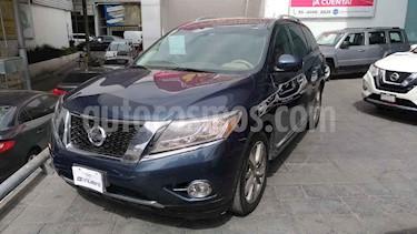 Nissan Pathfinder 5p Exclusive V6/3.5 Aut usado (2014) color Azul precio $275,000