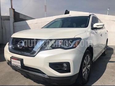 Nissan Pathfinder 5P ADVANCE CVT PIEL QCP BOSE GPS RA-18 usado (2018) color Blanco precio $505,000