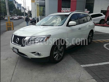 Nissan Pathfinder 5p Exclusive V6/3.5 Aut AWD usado (2014) color Blanco precio $295,000