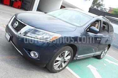 Nissan Pathfinder 5p Exclusive aut V6 usado (2013) color Azul precio $219,000