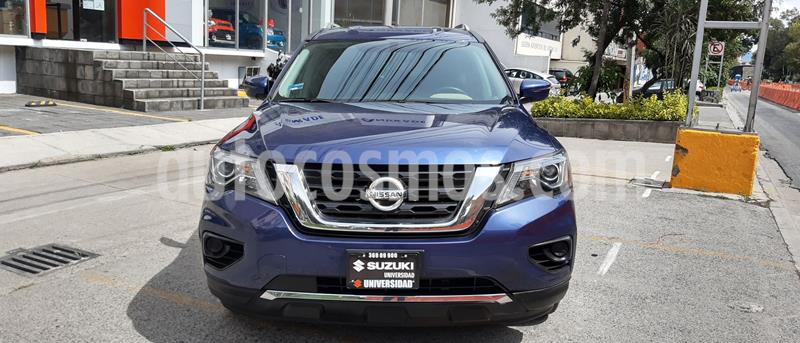 Nissan Pathfinder Sense usado (2017) color Azul precio $347,237