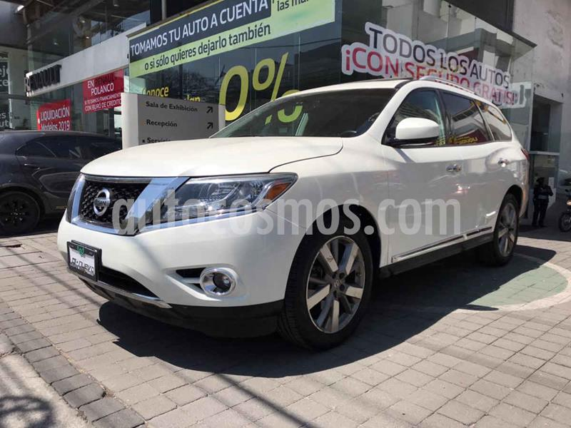 Nissan Pathfinder Exclusive 4x4 usado (2016) color Blanco precio $355,000