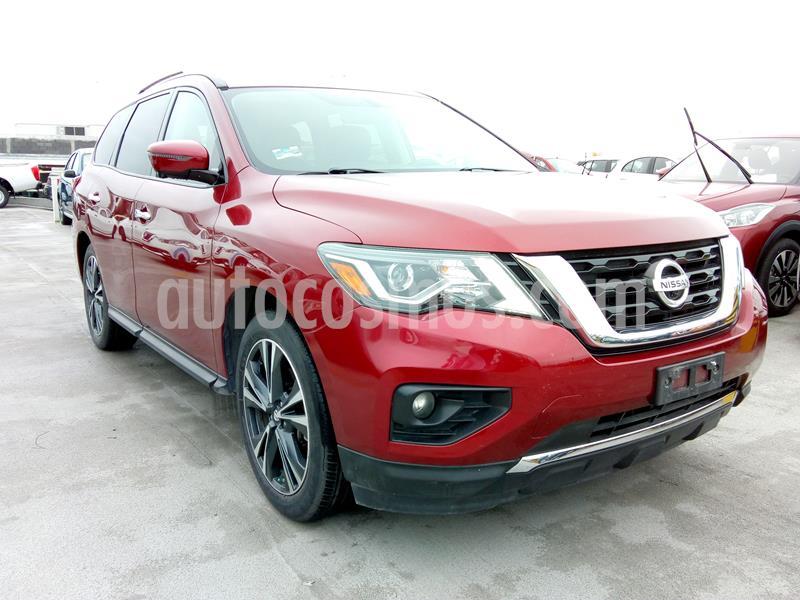 Nissan Pathfinder Exclusive usado (2017) color Rojo precio $437,200
