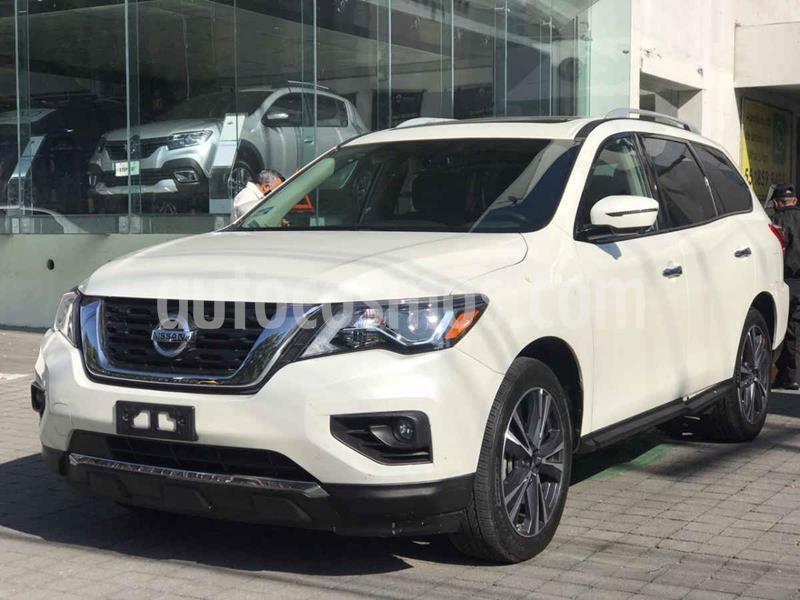 Nissan Pathfinder Exclusive usado (2018) color Blanco precio $535,000