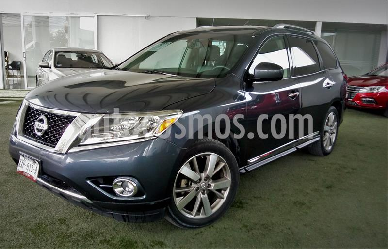 Nissan Pathfinder Exclusive usado (2014) color Gris Oxford precio $265,000