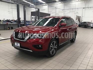 Nissan Pathfinder 5p Exclusive V6/3.5 Aut usado (2018) color Rojo precio $525,000