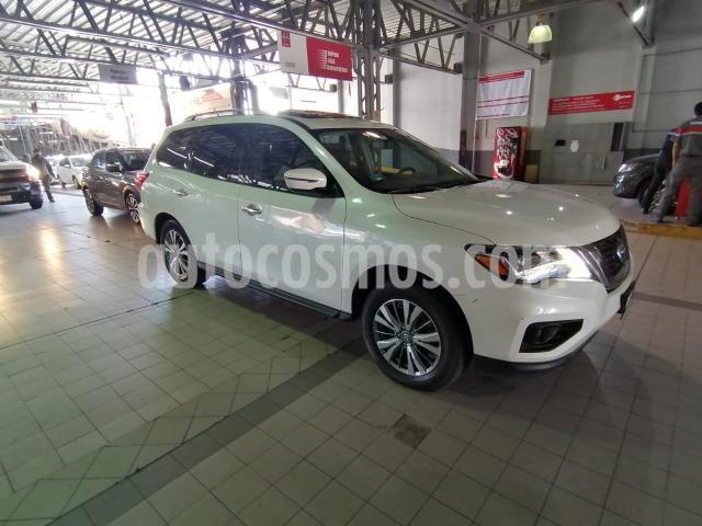 Nissan Pathfinder 5P ADVANCE CVT PIEL QCP BOSE GPS RA-18 usado (2018) color Blanco precio $469,900
