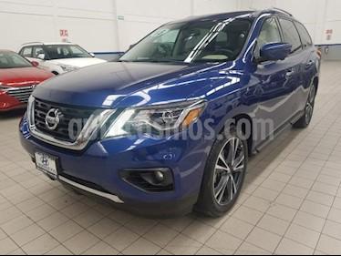 Nissan Pathfinder 5p Exclusive V6/3.5 Aut usado (2018) color Azul precio $525,000