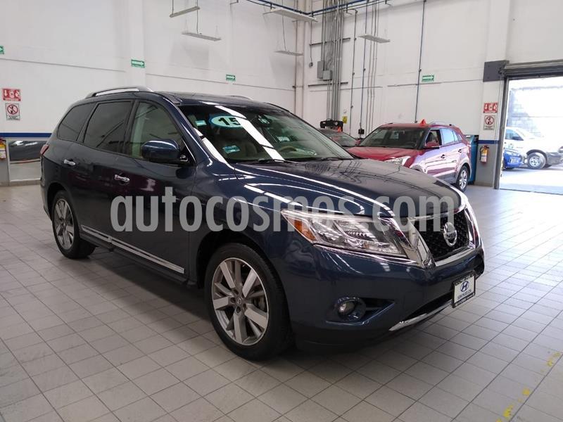 Nissan Pathfinder Exclusive usado (2015) color Azul Marino precio $320,000