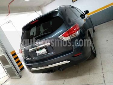 Nissan Pathfinder 5p Advance V6/3.5 Aut usado (2014) color Gris precio $295,000
