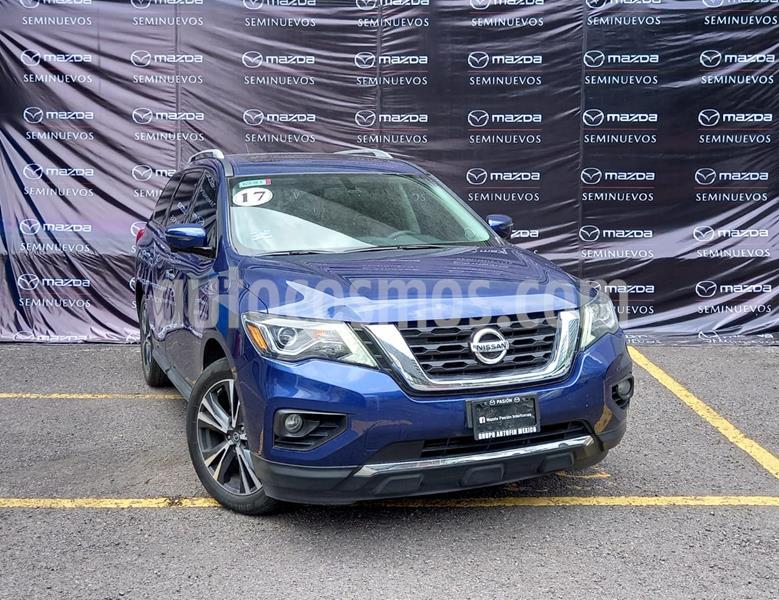 Nissan Pathfinder Exclusive usado (2017) color Azul Metalico precio $400,000