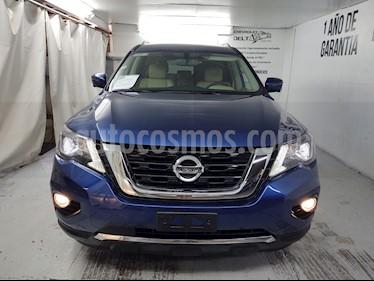 Nissan Pathfinder Exclusive 4x4 usado (2018) color Azul Metalico precio $499,000