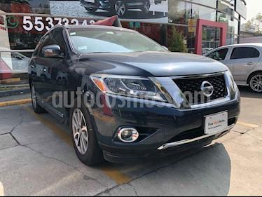 Nissan Pathfinder 5p Advance V6/3.5 Aut usado (2016) color Azul precio $340,000