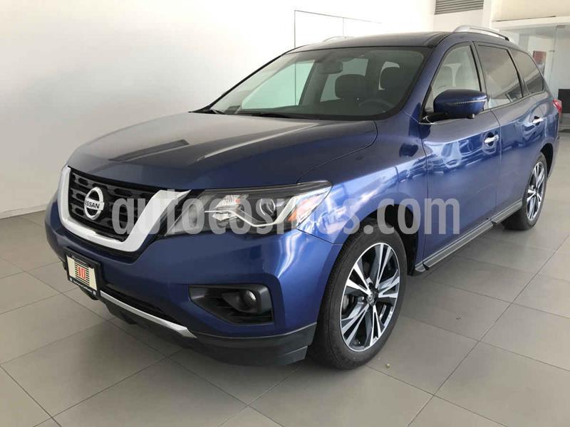 Nissan Pathfinder Exclusive usado (2018) color Azul precio $490,000