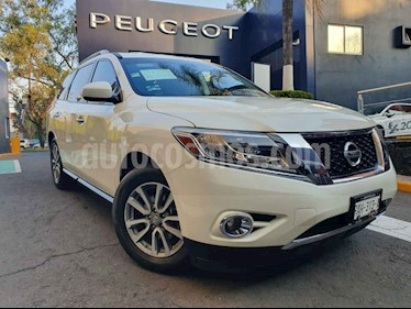 Nissan Pathfinder 5p Sense V6/3.5 Aut usado (2016) color Blanco precio $269,900