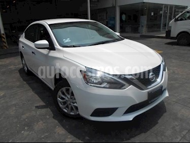 Foto venta Auto usado Nissan Sentra 4p Sense L4/1.8 Aut (2018) color Blanco precio $239,000