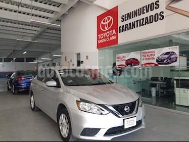 Foto venta Auto usado Nissan Sentra 4p Sense L4/1.8 Man (2017) color Plata precio $189,000