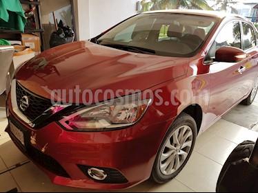 Nissan Sentra Advance Aut usado (2017) color Rojo Burdeos precio $215,000