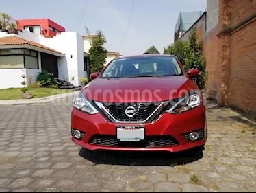 Nissan Sentra Advance Aut usado (2018) color Rojo Burdeos precio $218,000