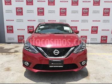 Foto venta Auto usado Nissan Sentra Exclusive Aut NAVI (2018) color Rojo Burdeos precio $305,000