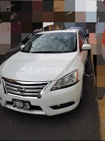 Nissan Sentra Exclusive NAVI Aut usado (2013) color Blanco precio $155,000