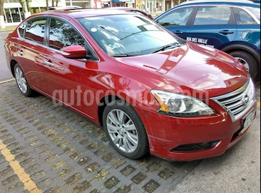 Foto venta Auto usado Nissan Sentra Exclusive NAVI Aut (2013) color Rojo Burdeos precio $155,000