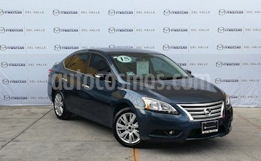 Foto venta Auto Seminuevo Nissan Sentra Exclusive NAVI Aut (2015) color Azul precio $200,000