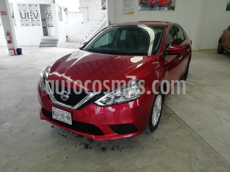 Nissan Sentra Sense usado (2018) color Rojo precio $199,000