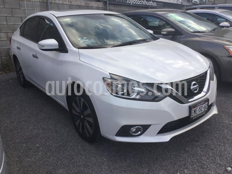 Nissan Sentra Exclusive NAVI Aut usado (2017) color Blanco precio $245,000