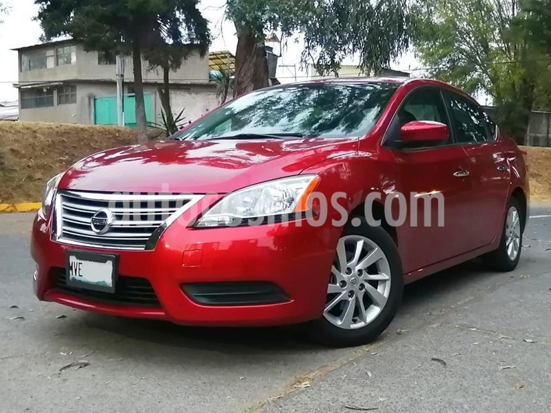 Nissan Sentra Sense Aut usado (2016) color Rojo precio $155,000