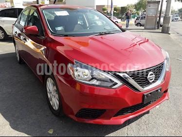 Nissan Sentra Sense Aut usado (2018) color Rojo Burdeos precio $225,000