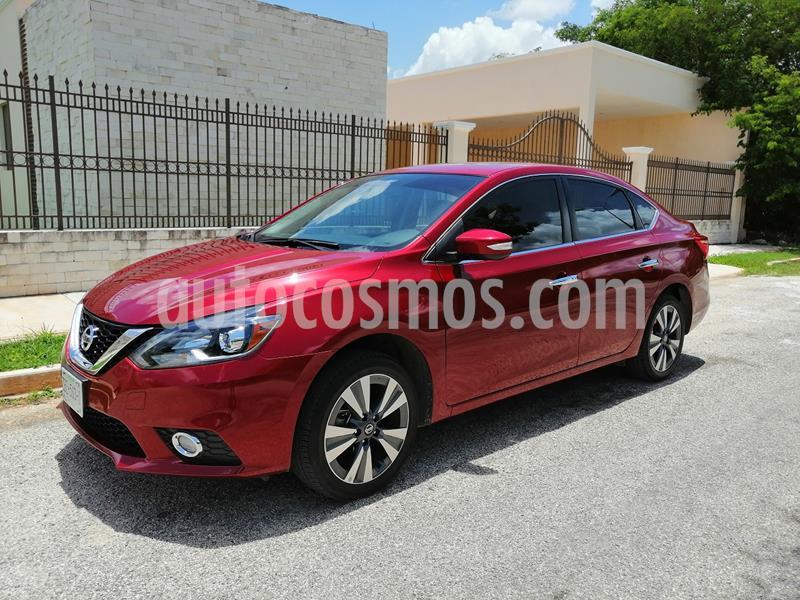 Nissan Sentra Exclusive NAVI Aut usado (2017) color Rojo Burdeos precio $199,000