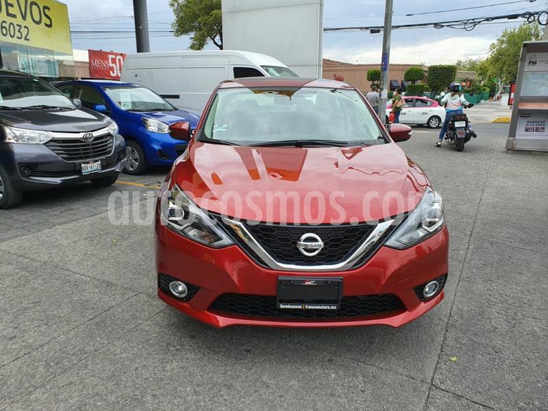 Nissan Sentra Exclusive Aut NAVI usado (2018) color Rojo Burdeos precio $264,000