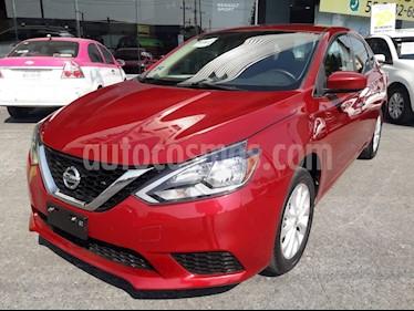 Nissan Sentra Sense Aut usado (2018) color Rojo Burdeos precio $210,000
