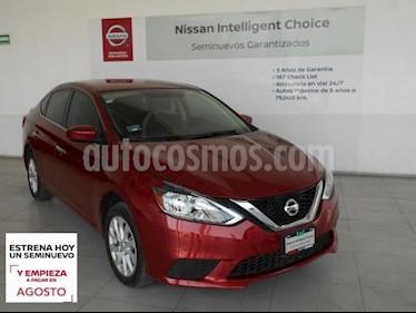 Nissan Sentra 4P SENSE L4/1.8 MAN usado (2019) color Rojo precio $244,000