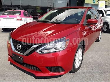 Nissan Sentra Sense Aut usado (2018) color Rojo precio $225,000