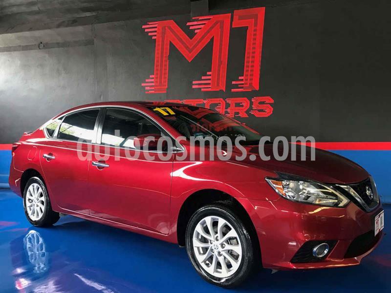 Nissan Sentra Sense Aut usado (2017) color Rojo precio $189,000