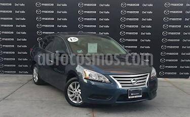 Nissan Sentra Sense Aut usado (2015) color Azul precio $160,000