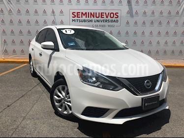 Nissan Sentra Sense Aut usado (2017) color Blanco precio $185,000
