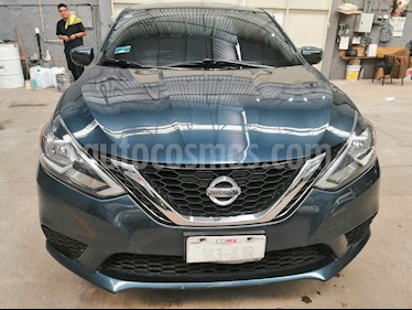 Nissan Sentra Advance usado (2017) color Azul Electrico precio $210,000